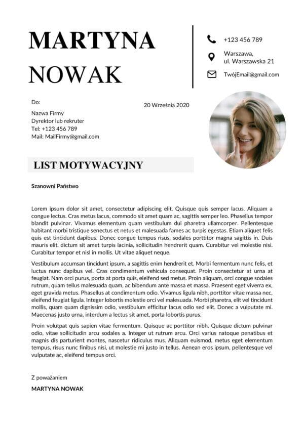 List Motywacyjny Craft
