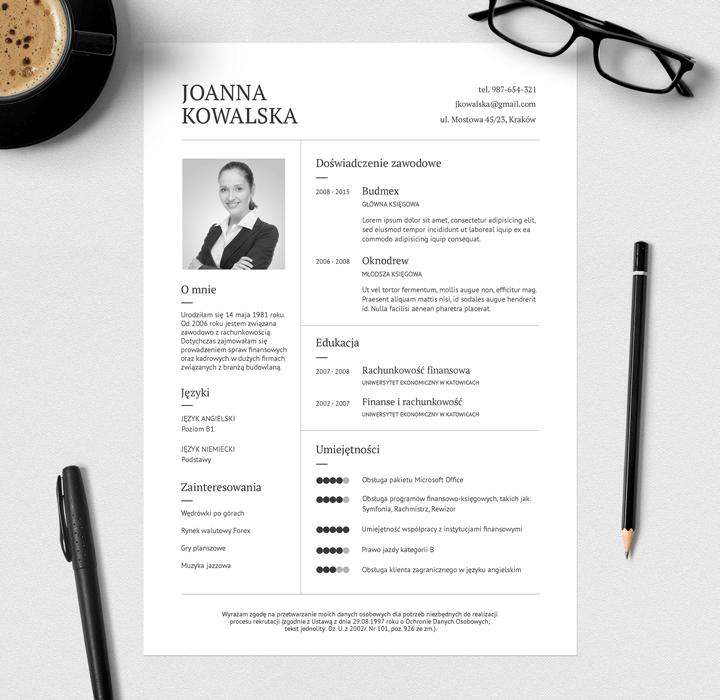 Darmowe eleganckie CV